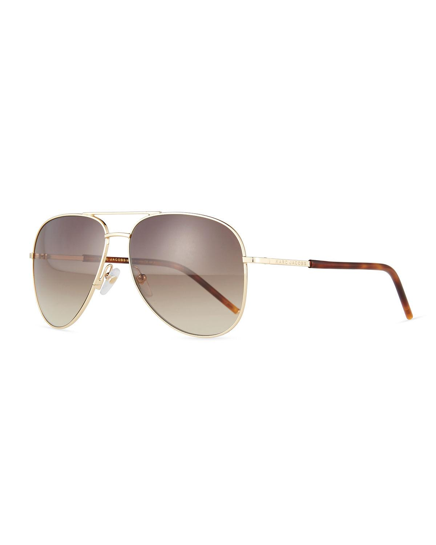 acda7953f6f Marc Jacobs Women s Brow Bar Aviator Sunglasses