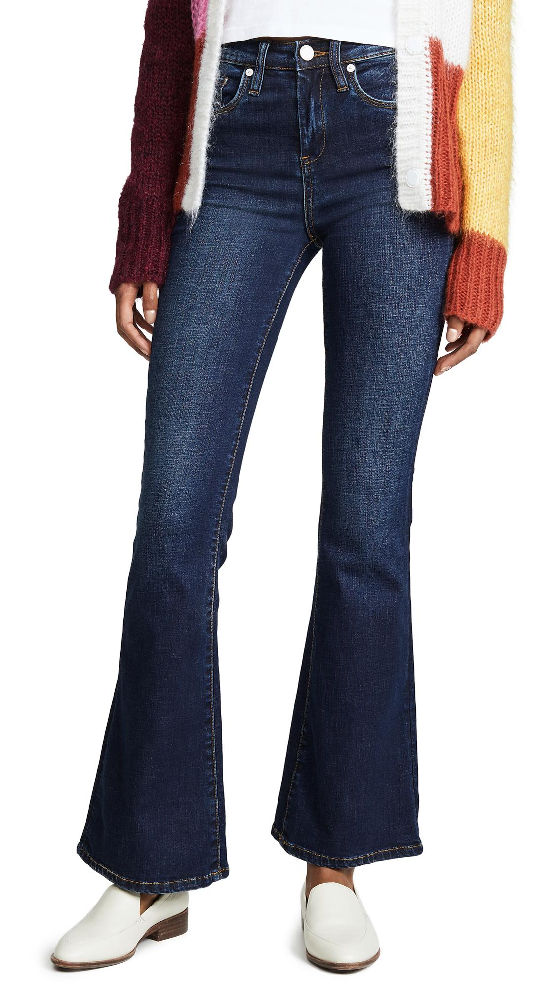 Blank Denim The Waverly High Rise Flare Jeans In The Misfit Wash