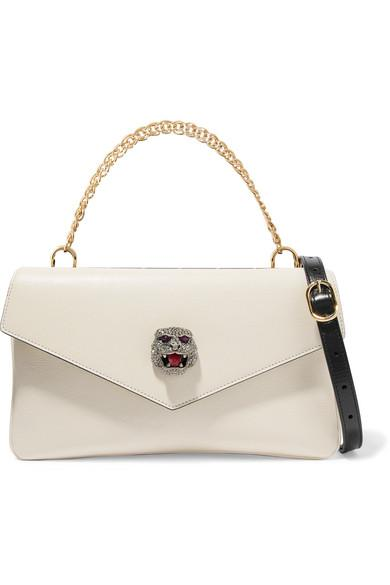 318336a1168a17 Gucci Thiara Embellished Printed Leather Shoulder Bag | ModeSens