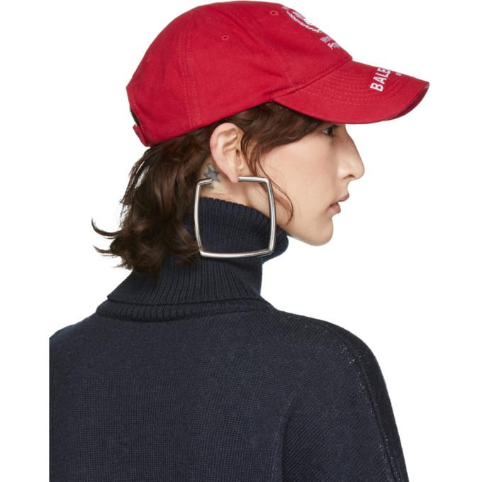 873f5687be9003 Balenciaga World Food Programme Embroidered Cotton-Twill Baseball Cap In Red
