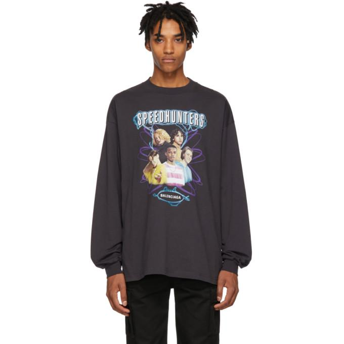 7f8fcc59d951 Balenciaga Speedhunters Cotton Long-Sleeve T-Shirt In Black