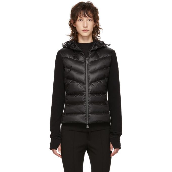 1f57afd0d Moncler Grenoble Black Panelled Down And Fleece Jacket In 999 Black ...