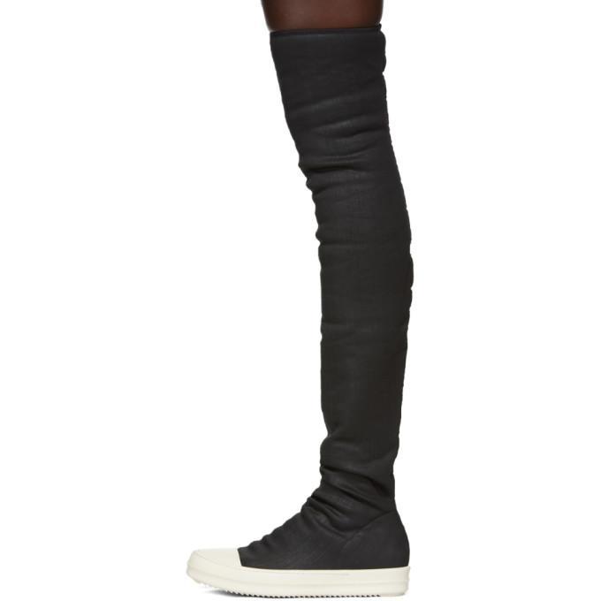 fdb5ac0ad86 Rick Owens Drkshdw Rick Owens Drk Shdw Women s Black Over-Knee Sneaker Boots  In Blue