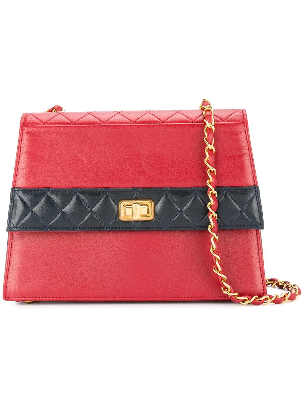 ccf614db1d3001 Chanel Pre-Owned Quilted Structured Shoulder Bag In Red | ModeSens