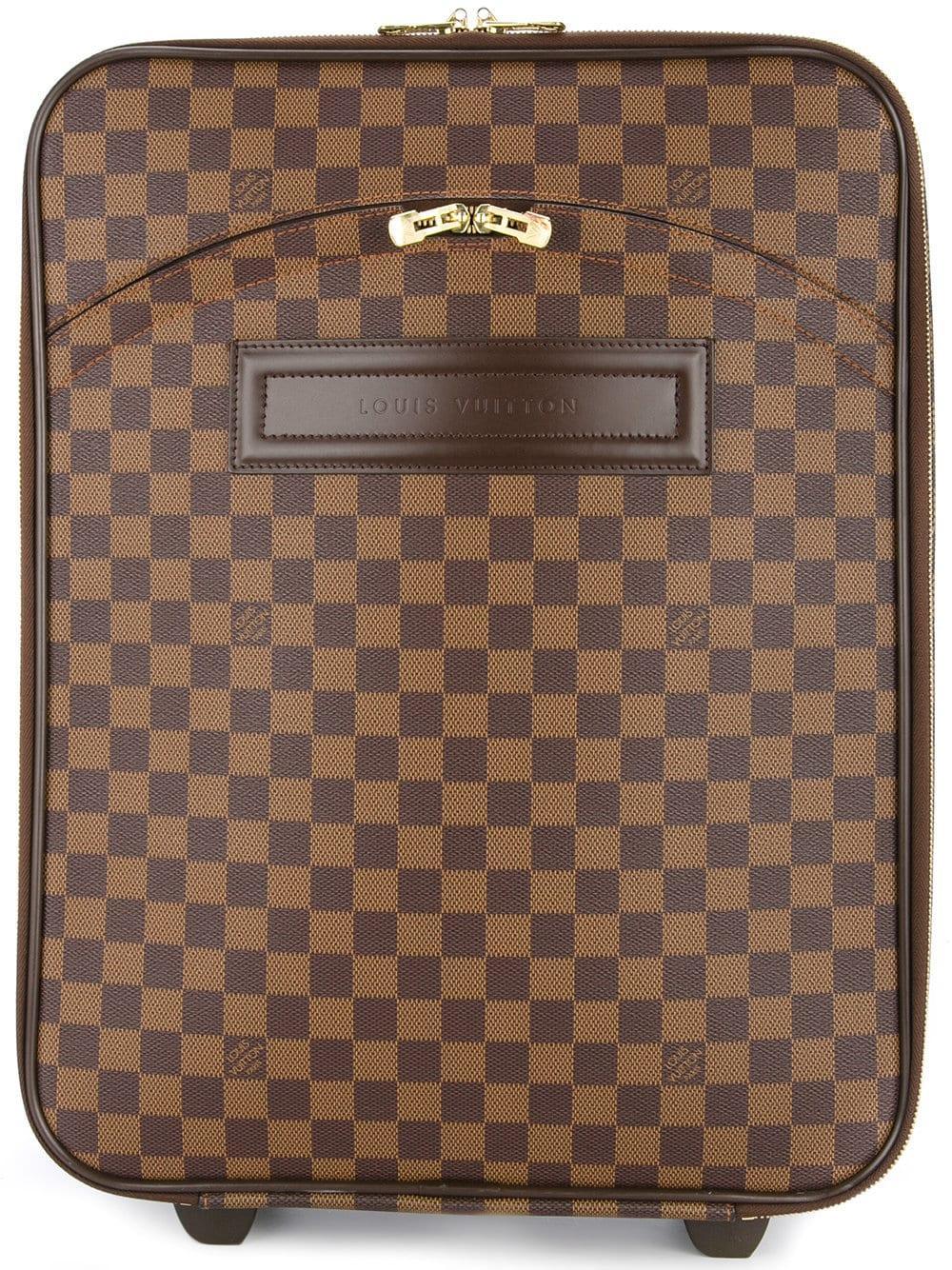 537becdde Louis Vuitton Pre-Owned Pegase 45 Luggage Bag - Brown | ModeSens