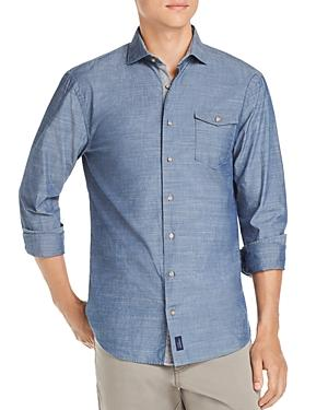 96b37c9bd6f Johnnie-O Lucas Chambray Regular Fit Shirt In Indigo