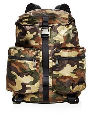 49d6608ae651 Michael Kors Kent Camo-Print Nylon Backpack In Olive | ModeSens
