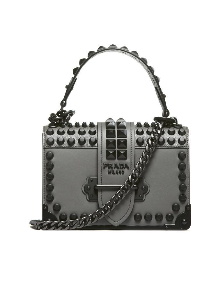 aa2b0340b13f Prada Cahier Shoulder Bag In Grey
