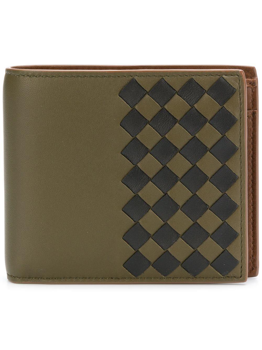 fdc664e7e2df Bottega Veneta Intecciato Check Bifold Wallet In Green