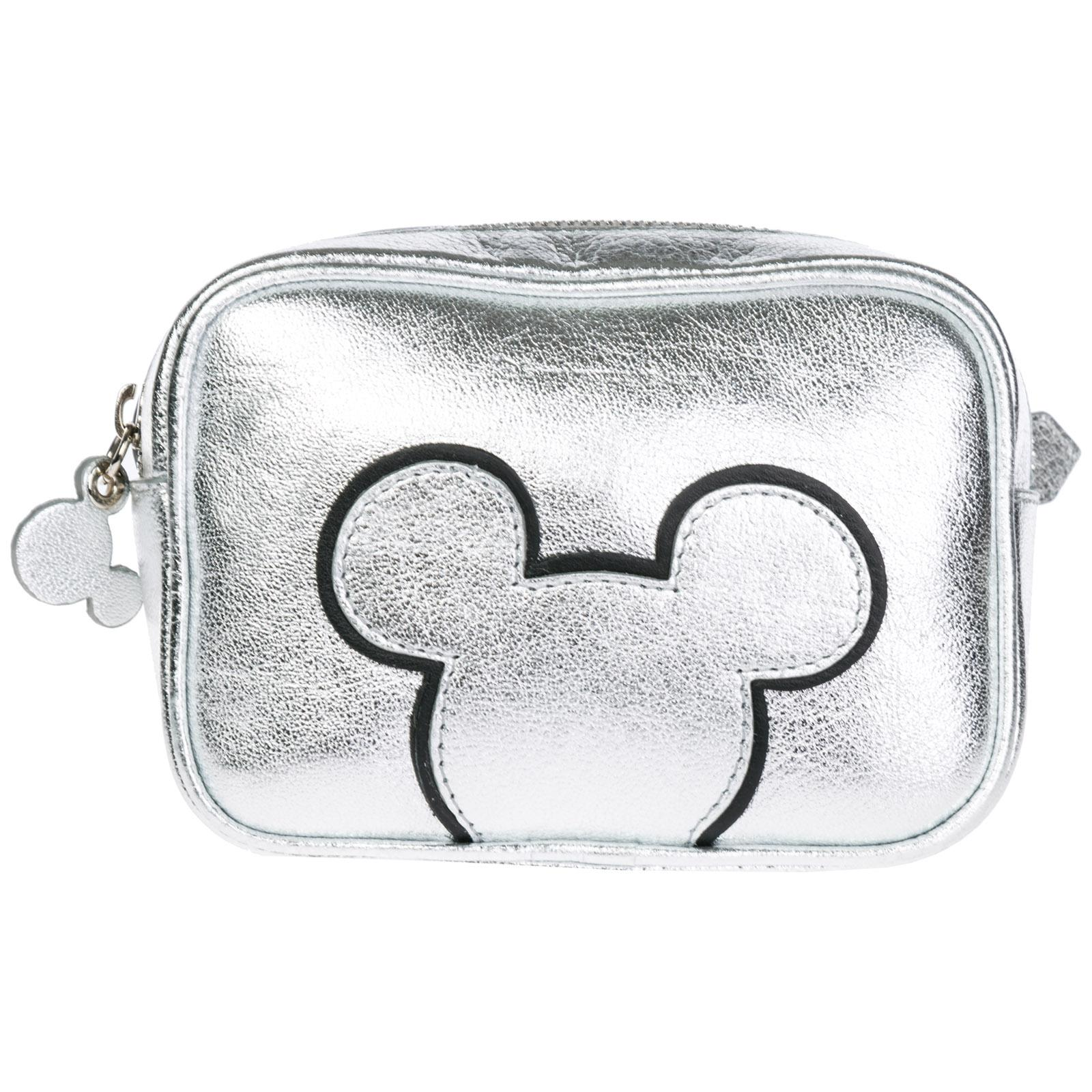 6e32ab0d20af Moa Master Of Arts Women's Leather Belt Bum Bag Hip Pouch Disney Mickey  Mouse In Silver