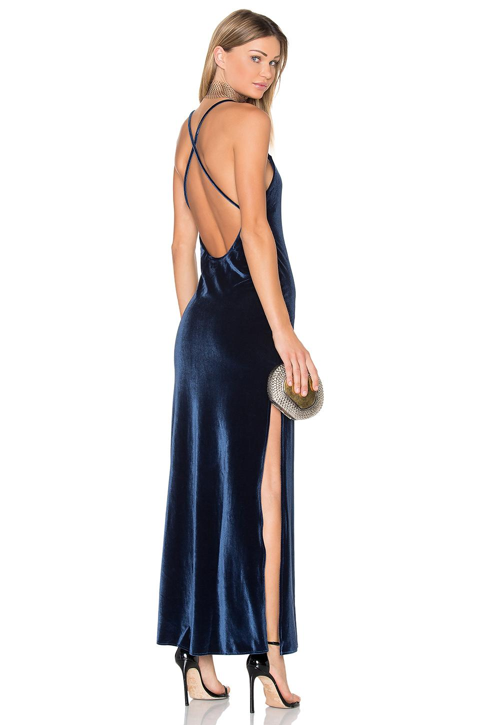 5a0247254fc Nbd X Revolve In The Deep Maxi Dress In Blue. In Navy