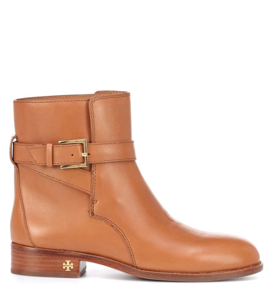 f573a2c490d8 Tory Burch Brooke Leather Ankle Boots In Brown