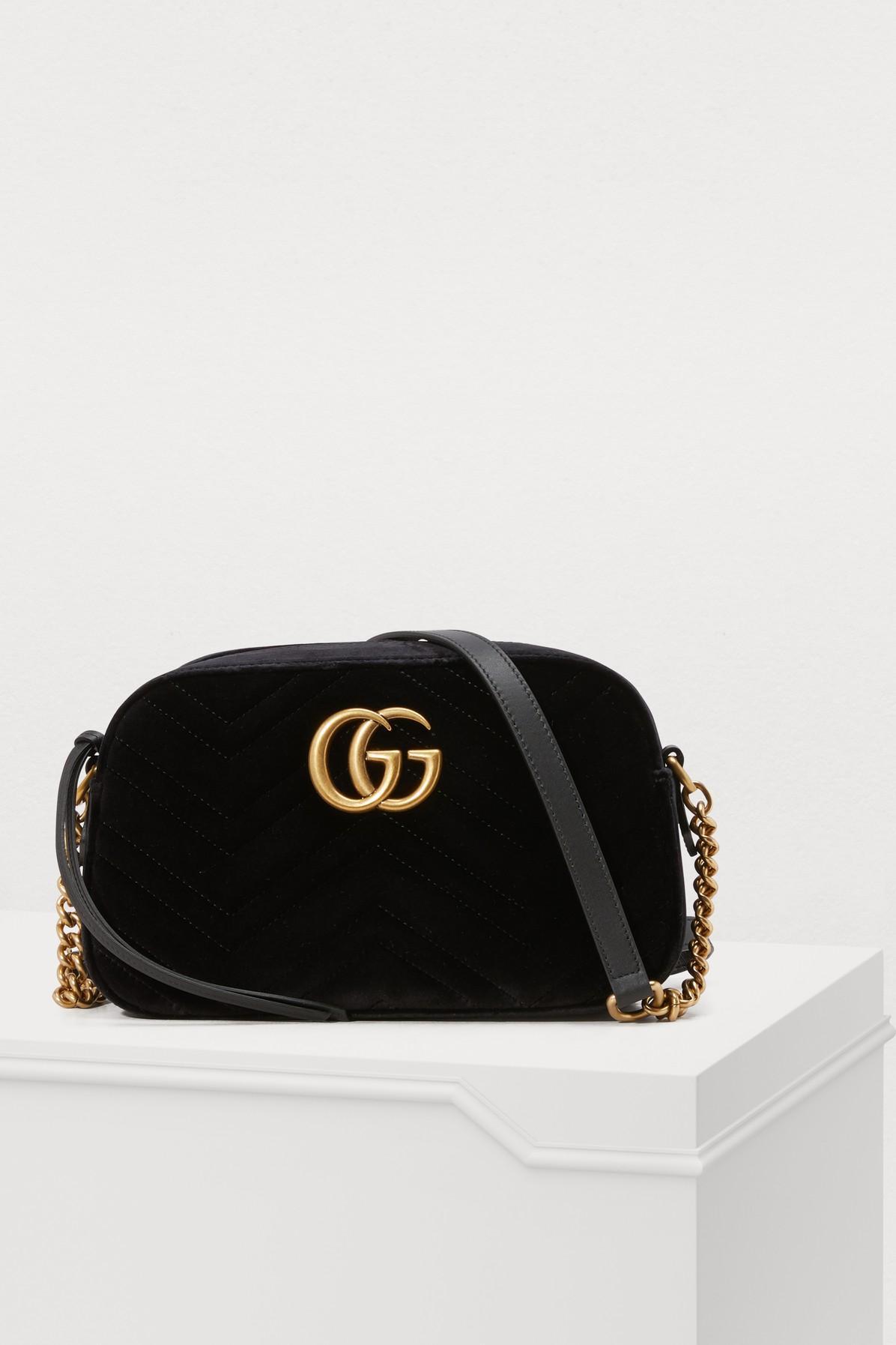 0c392d013ce Gucci Gg Marmont Velvet Camera Bag In 1000 Black