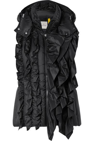 b37840393 4 Simone Rocha Ruffled Quilted Shell Vest in Black