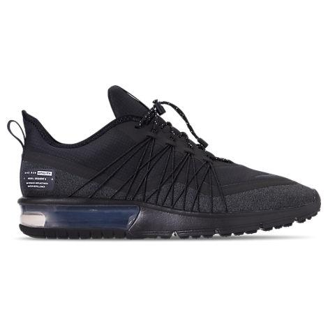 sports shoes bde83 5b77b Nike Men s Air Max Sequent 4 Shield Running Sneakers From Finish Line In  Grey Black