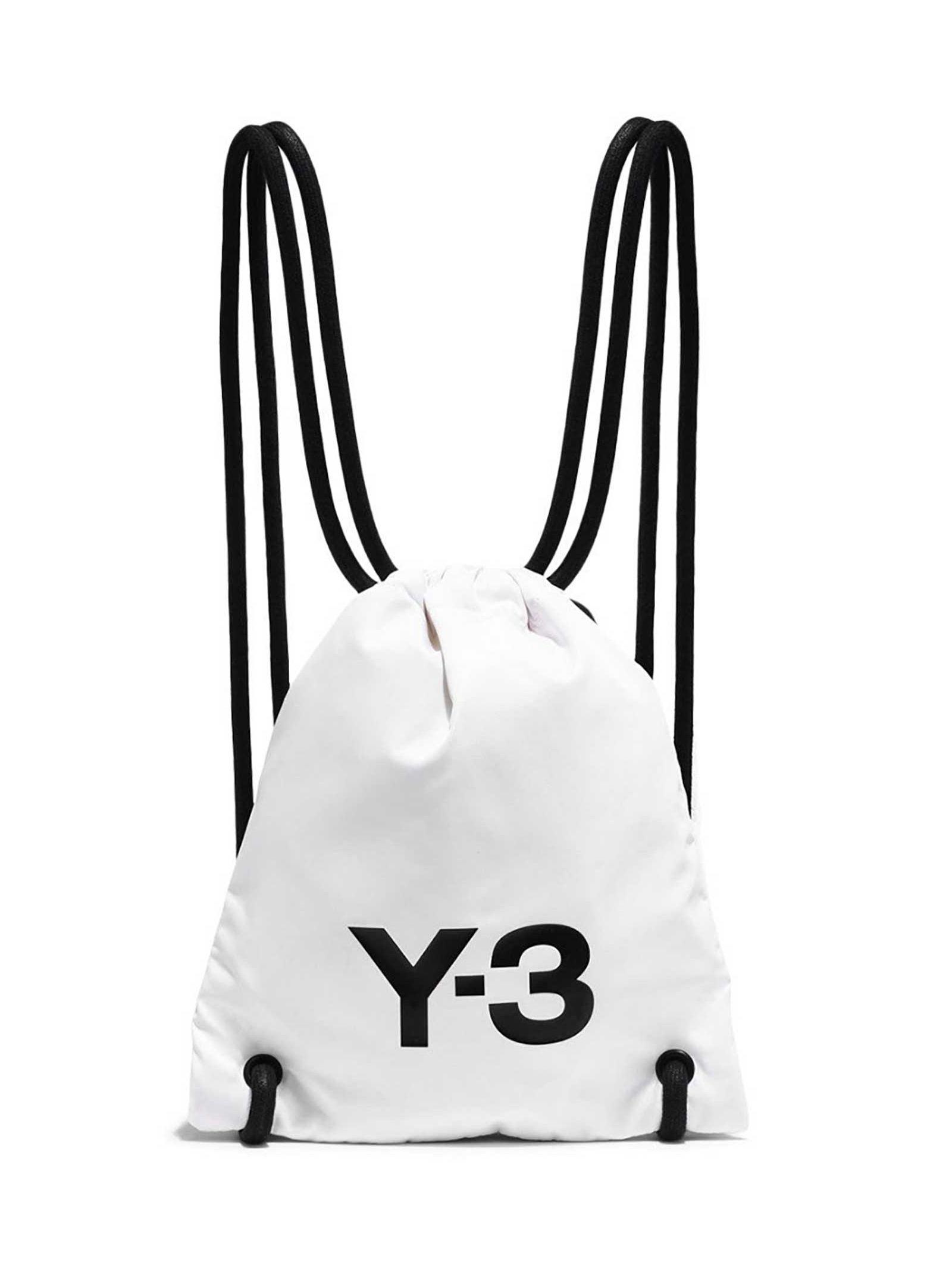 Chaleco Por Aprobación  Y-3 Adidas Logo Print Backpack In Cwhite | ModeSens