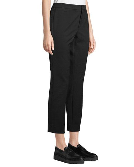 812f595cf Vince Cuffed Straight-Leg Crepe Trousers With Coin Pocket In Black ...