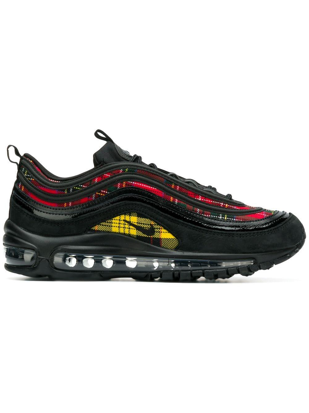 new product c0d41 e92ad Nike Women s Air Max 97 Se Tartan Casual Shoes, Black