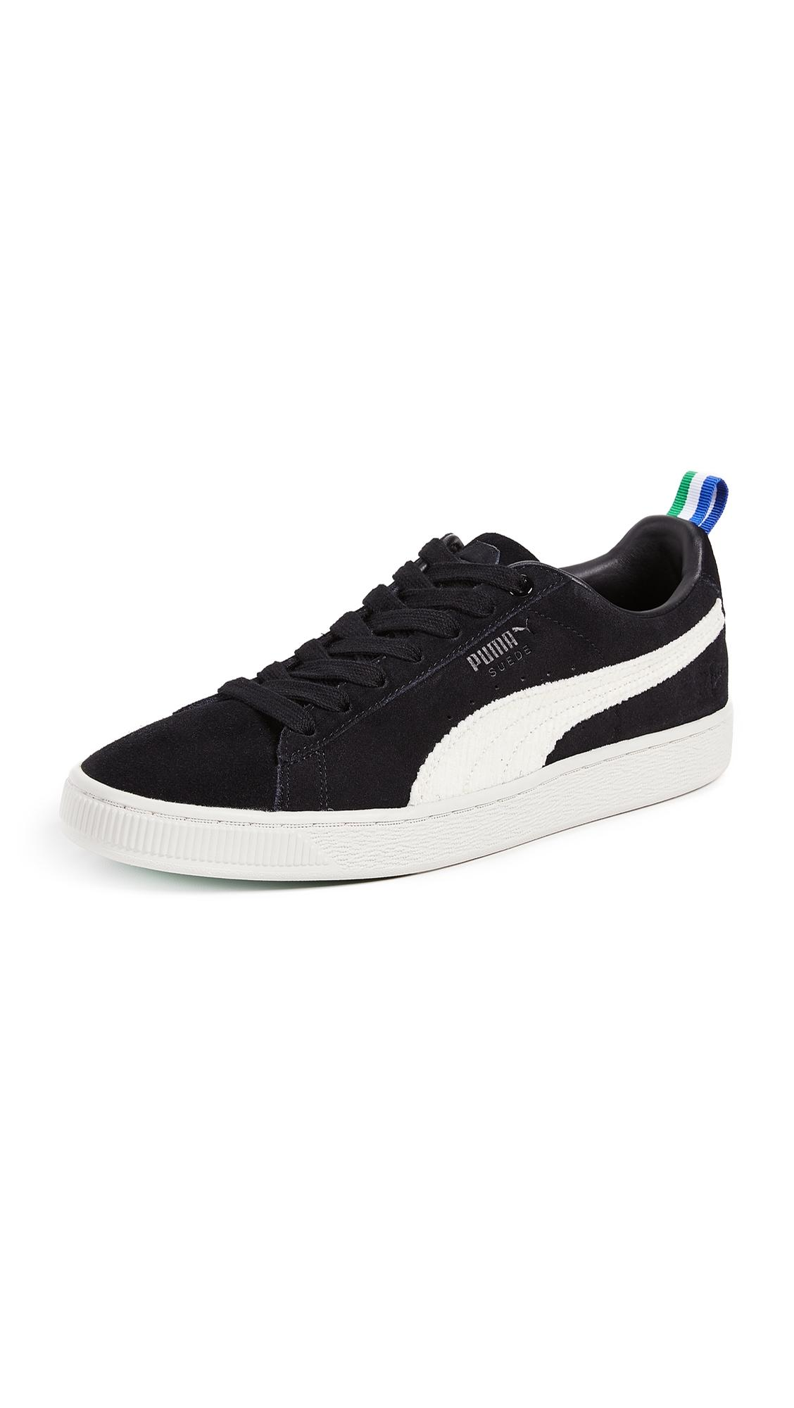 Puma Sean Suede In Blackwhisper Big White Sneakers LqzVpUMSG
