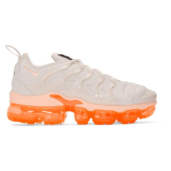a346bcc9735 Nike White   Orange Air Vapormax Plus Sneakers In 005 Phantom