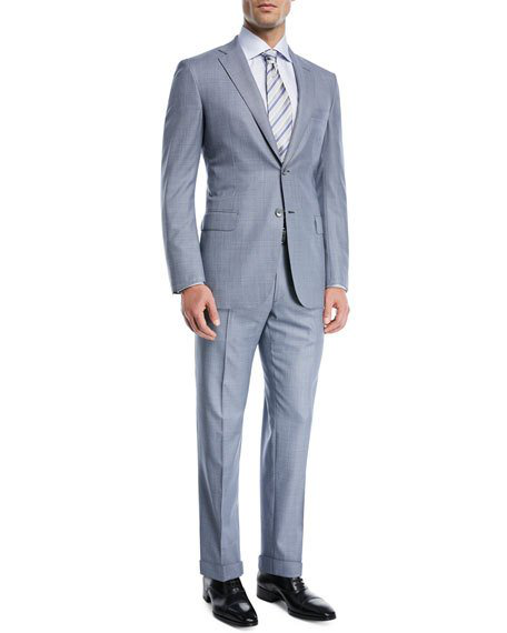 Brioni Super 150S Wool Two-Piece Suit In Blue