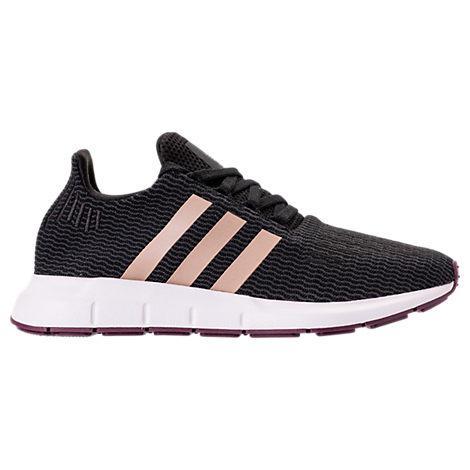 954376b419c576 Adidas Originals Women s Swift Run Lace Up Athletic Sneakers In Black