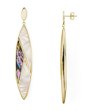 0bd2848cf Argento Vivo Mother-Of-Pearl Mosaic Marquise Drop Earrings In 18K Gold- Plated