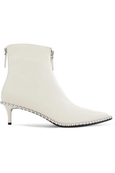 a117006a376 Alexander Wang Women s Eri Studded Kitten Heel Booties In 100 Blanc Argent