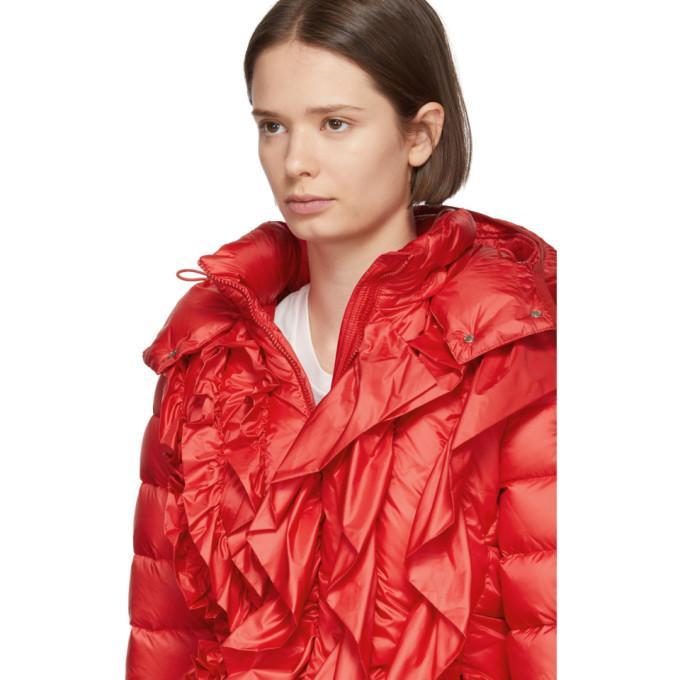 81fd4551e 4 Moncler Simone Rocha Down Jacket in Red