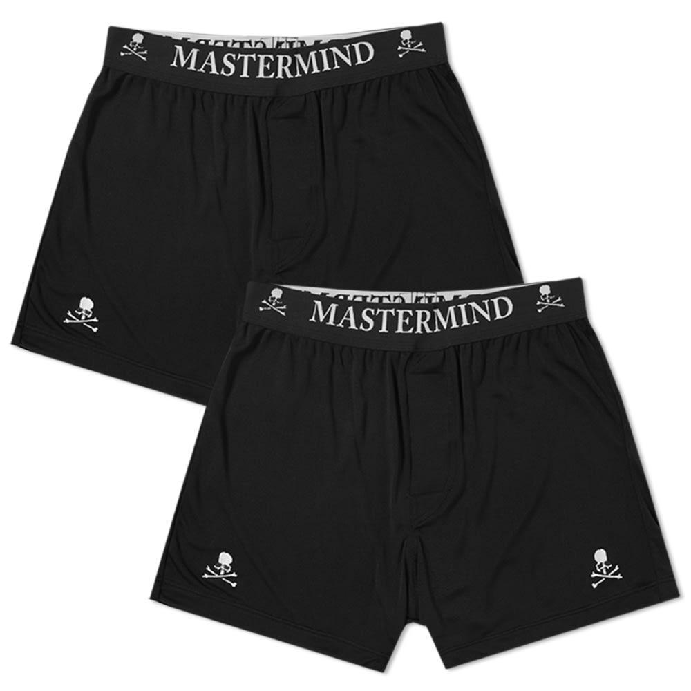 199d9689ea89 Mastermind Japan Mastermind World Silk Boxer Short - 2 Pack In White ...
