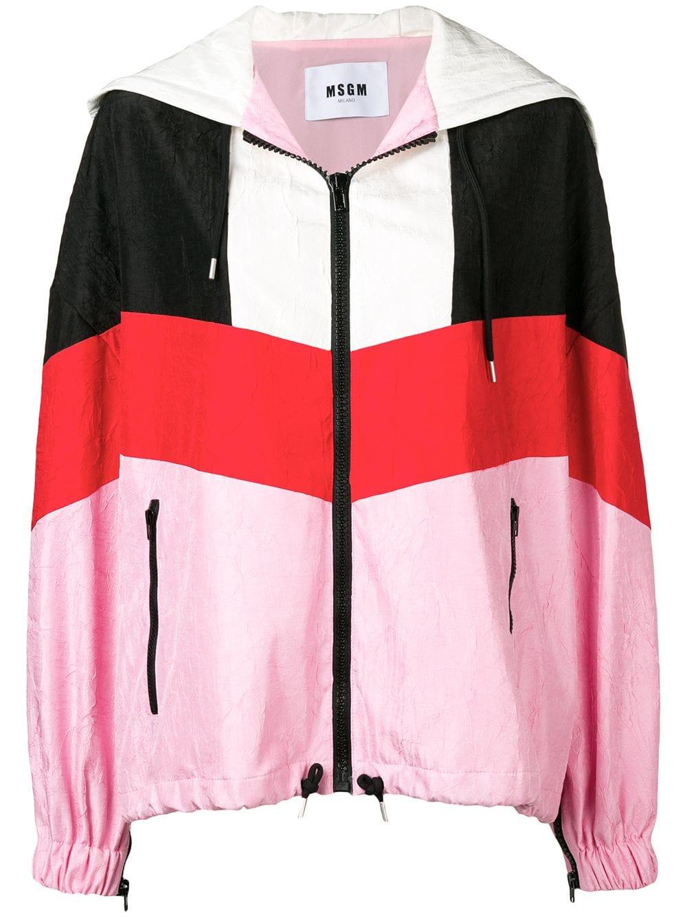 51f874589a95 Msgm Colour-Block Jacket - Farfetch In Pink