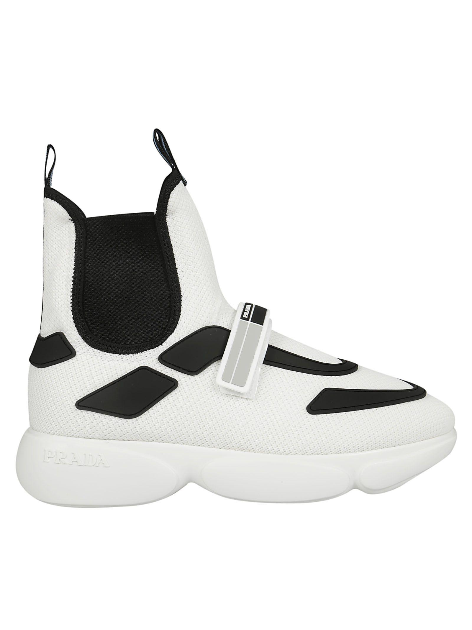 74c6d1e6 Cloudbust Logo-Embossed Rubber, Neoprene And Leather-Trimmed Mesh High-Top  Sneakers in White