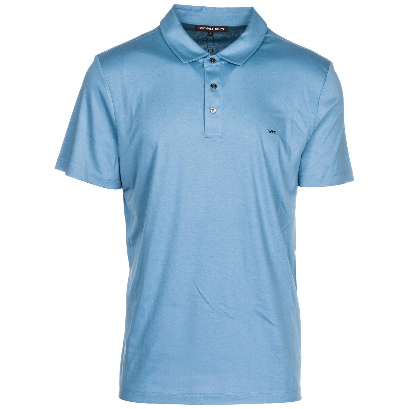 4e53c0a8 Michael Kors Men's Short Sleeve T-Shirt Polo Collar In Blue | ModeSens