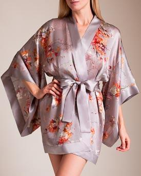 418700548 Meng : Short Kimono In Earth | ModeSens