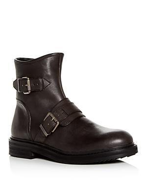 d200d2d2932a2 Men'S Cooper Leather Moto Boots in Mineral Black Leather