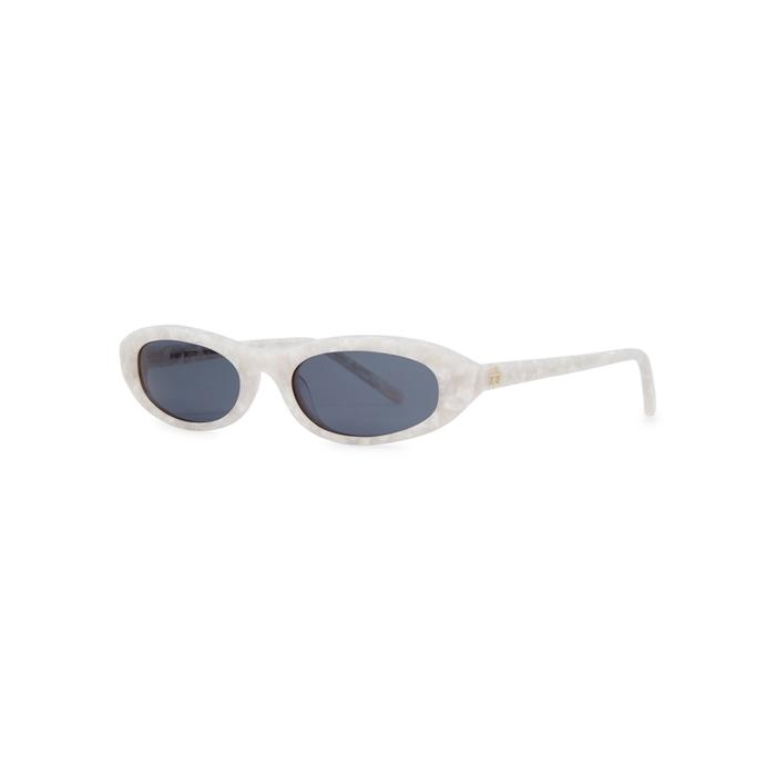 7ea2d1c5c984 Roberi And Fraud Baby Betty Oval-Frame Sunglasses In White. Harvey Nichols