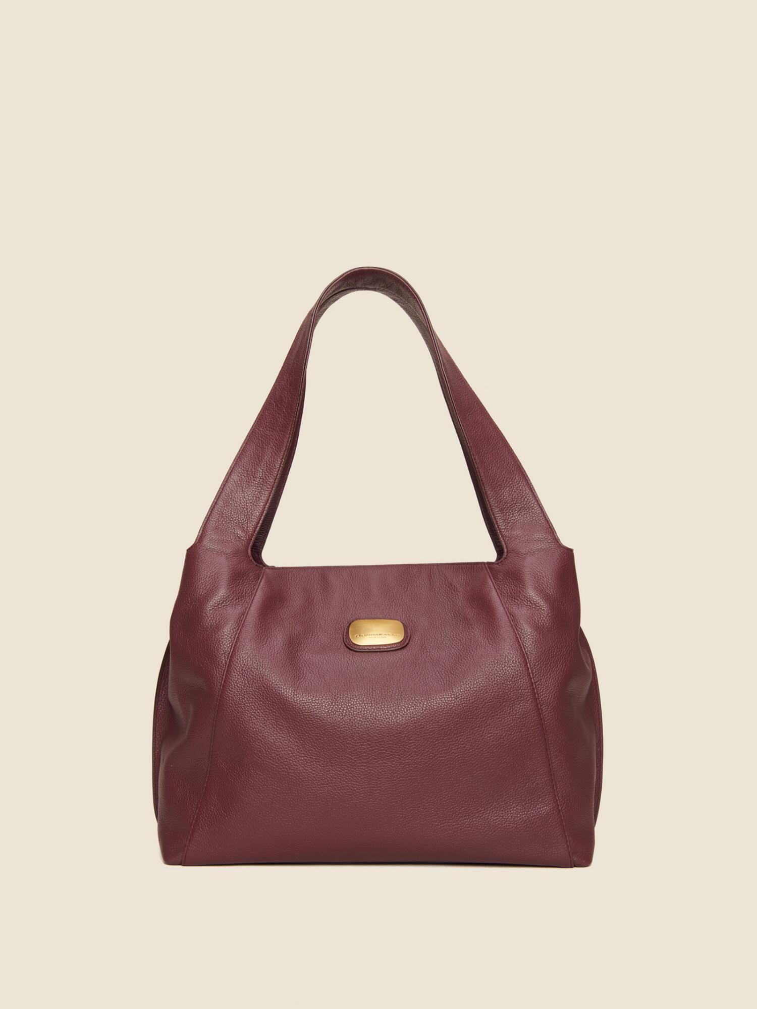 8463e49581b Donna Karan Leather Hobo Bag In Garnet | ModeSens