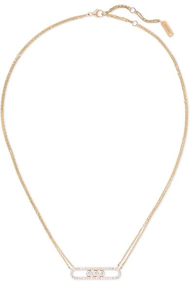 united states where to buy release date Messika Move 18-karat Rose Gold Diamond Necklace | ModeSens