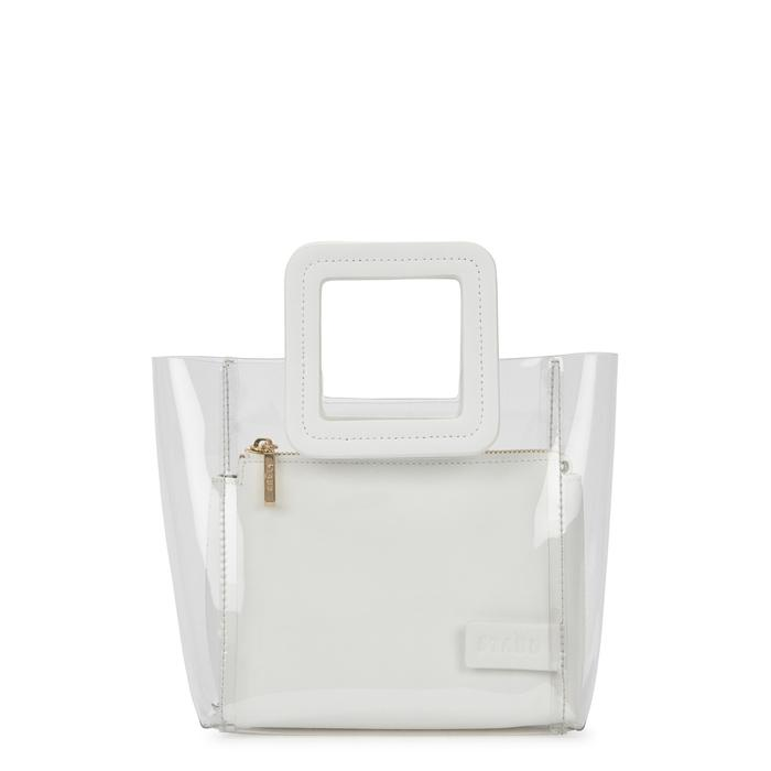 3b7d2f100c9cd Staud Shirley Mini Pvc And Leather Tote In White