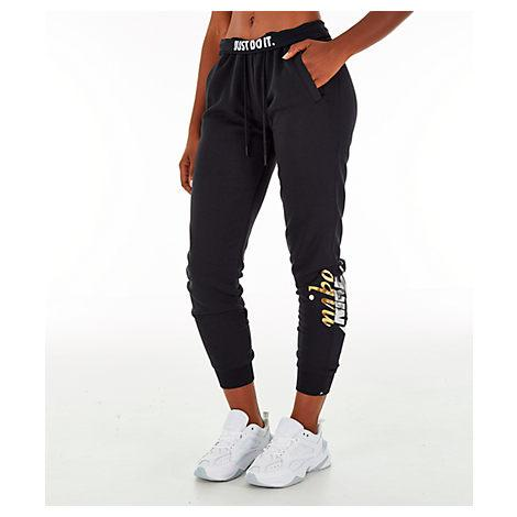 371d9f3a24 Nike Women s Sportswear Rally Metallic Jogger Pants