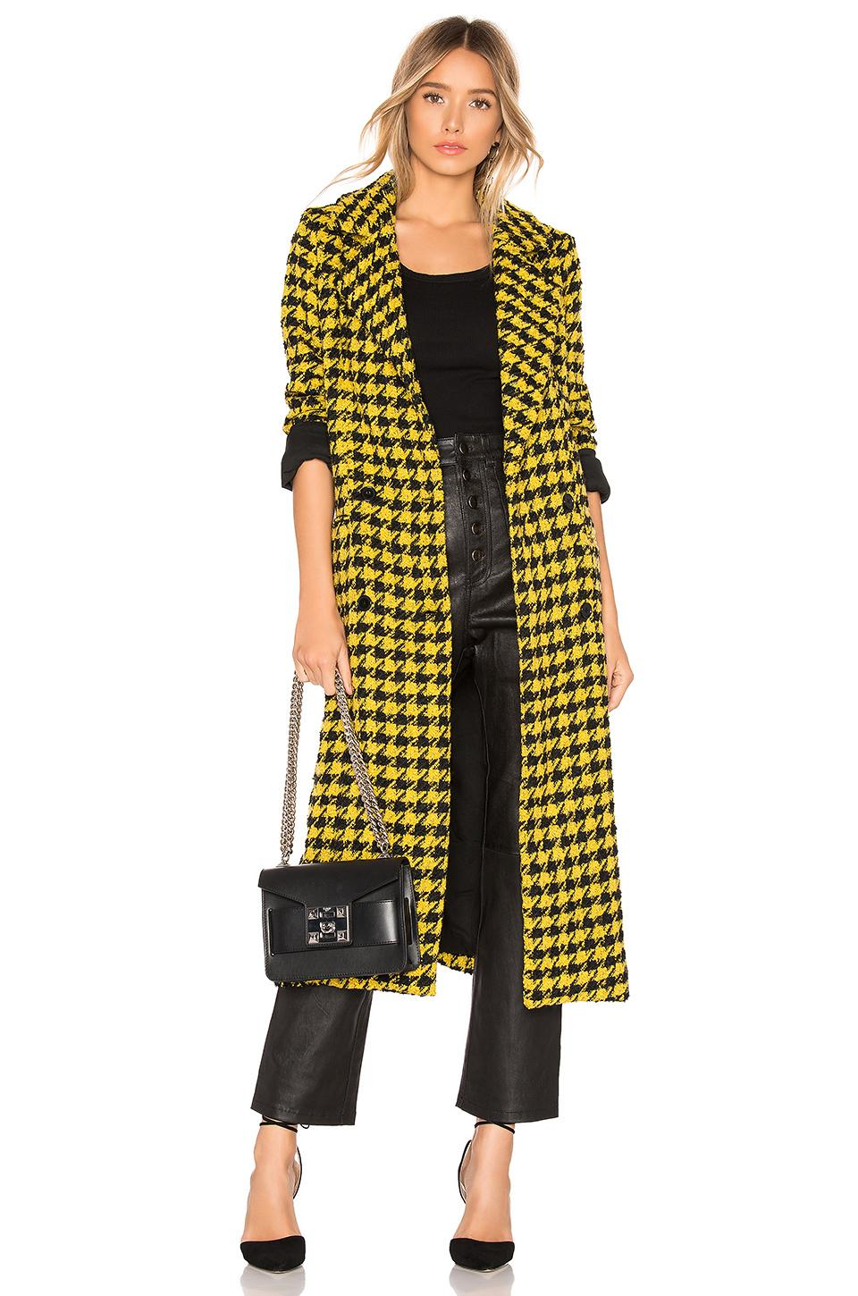 a35709bb1874 House Of Harlow 1960 X Revolve Perry Coat In Yellow & Black | ModeSens