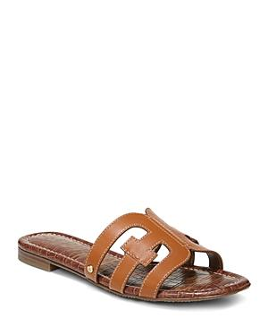 58d21bea18e1c Sam Edelman Women s Bay Leather Slide Sandals In Saddle