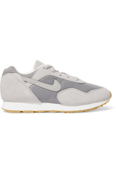 factory price 14121 344d1 Nike Outburst Suede, Leather And Mesh Sneakers In Gray
