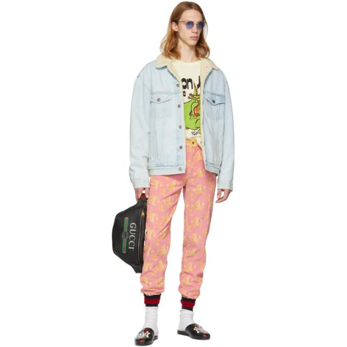 356176fff Gucci - Paramount Embroidered Denim Jacket - Mens - Blue   ModeSens