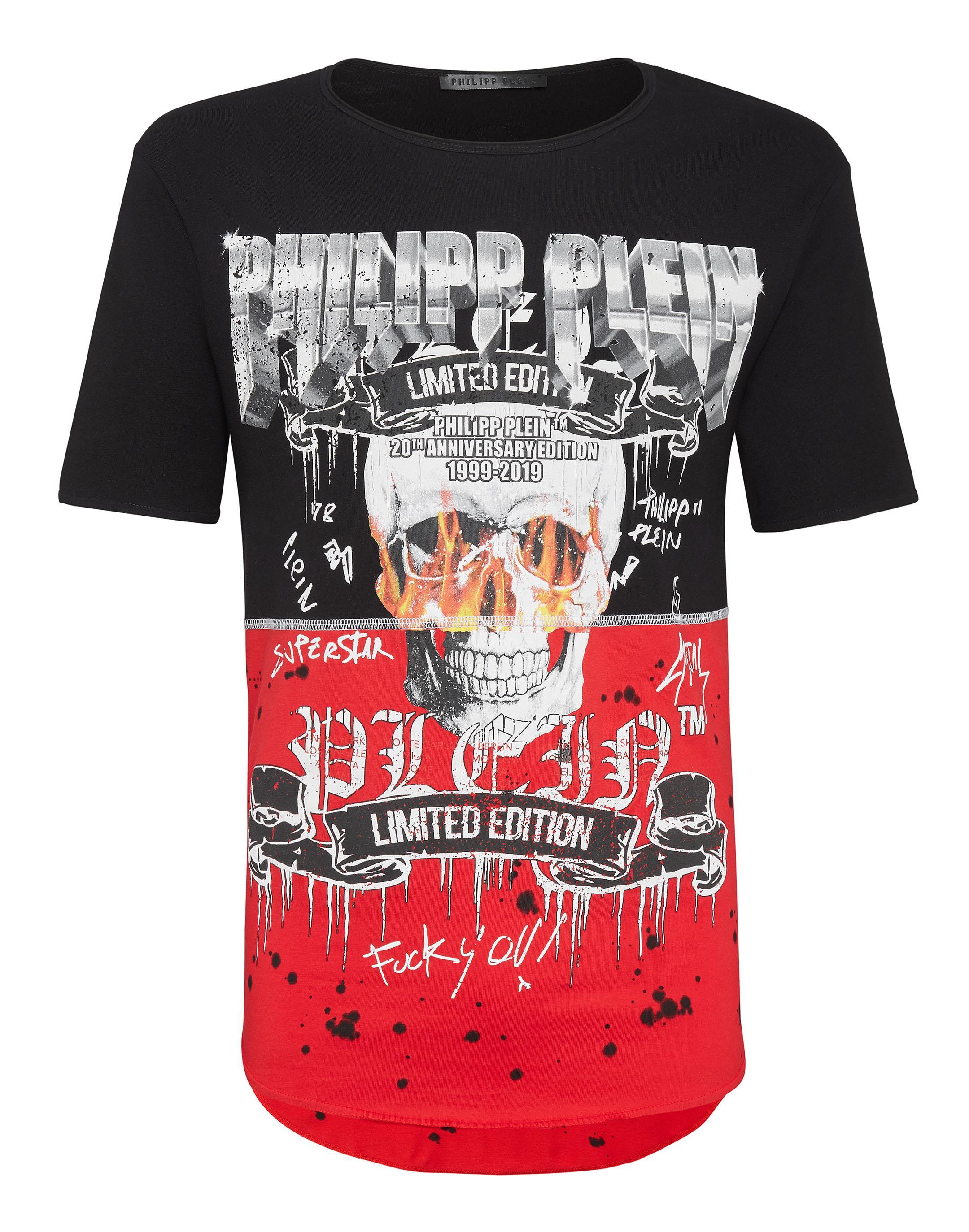 ce0accb97863 Philipp Plein T-Shirt Round Neck Ss Rock Pp In Black   ModeSens