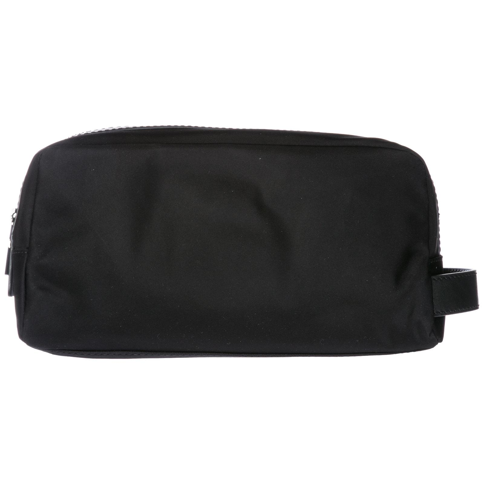 3b6a5c94ff61d1 Michael Kors Men's Travel Toiletries Beauty Case Wash Bag In Nylon Kent In  Black