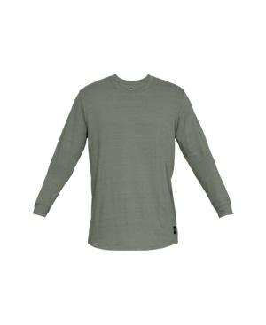 a12633236951 Under Armour Men s Sportstyle Long Sleeve In Moss Green Black
