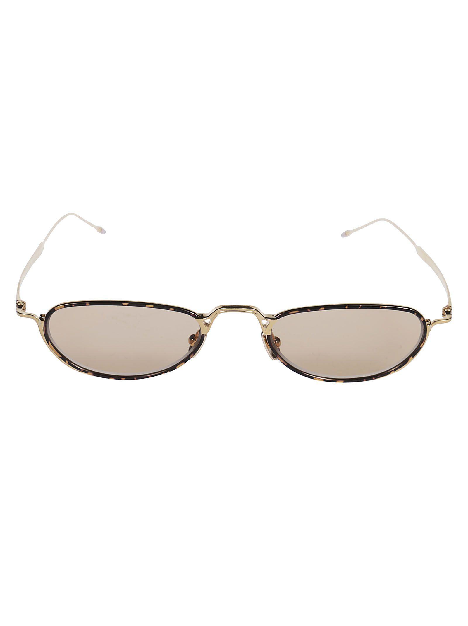 7fbfd7db04 Thom Browne Small Lenses Frame Sunglasses In White Gold Tortoise ...