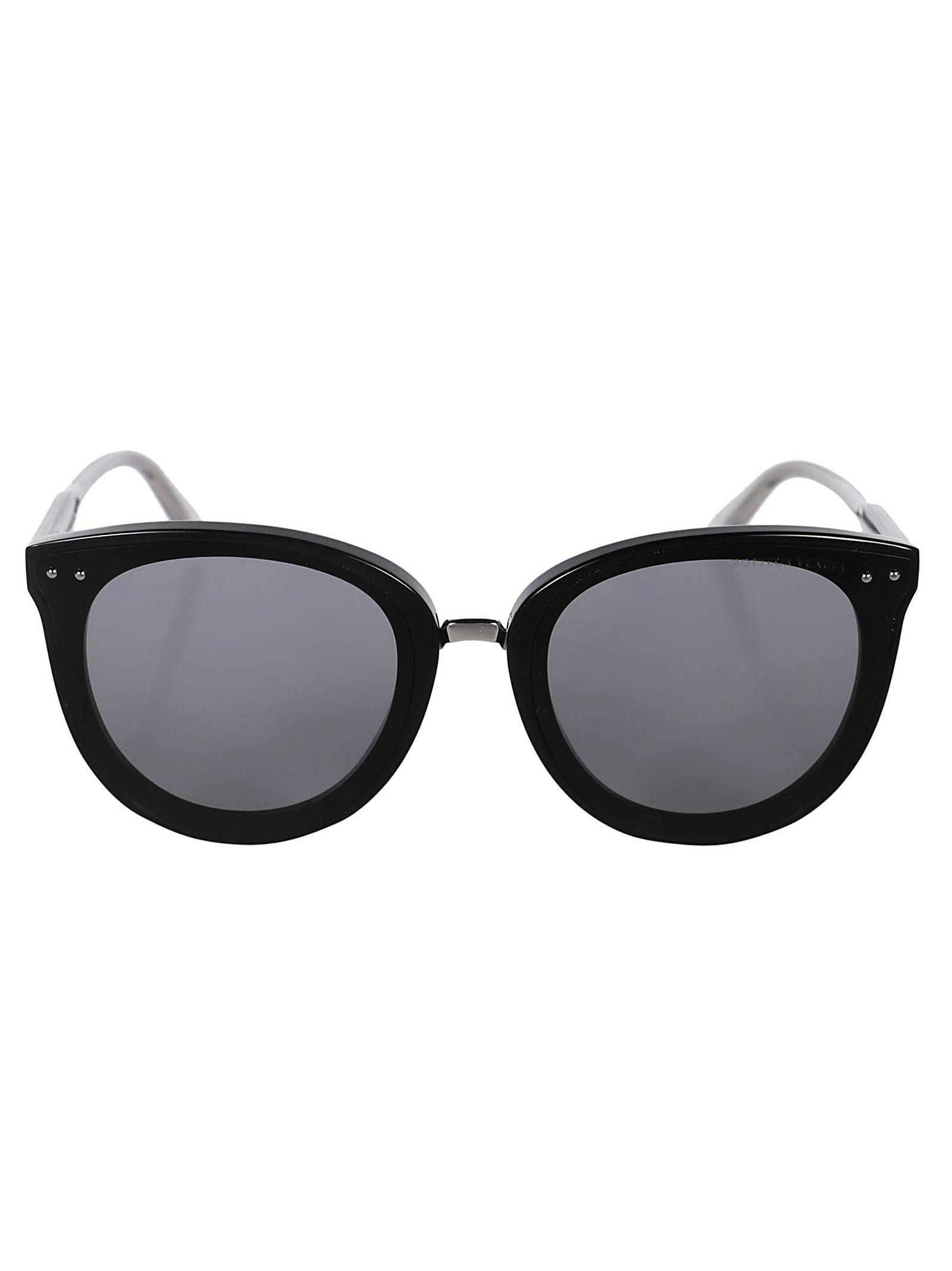 3b15dbd8d6d Bottega Veneta Round Shape Sunglasses In Black