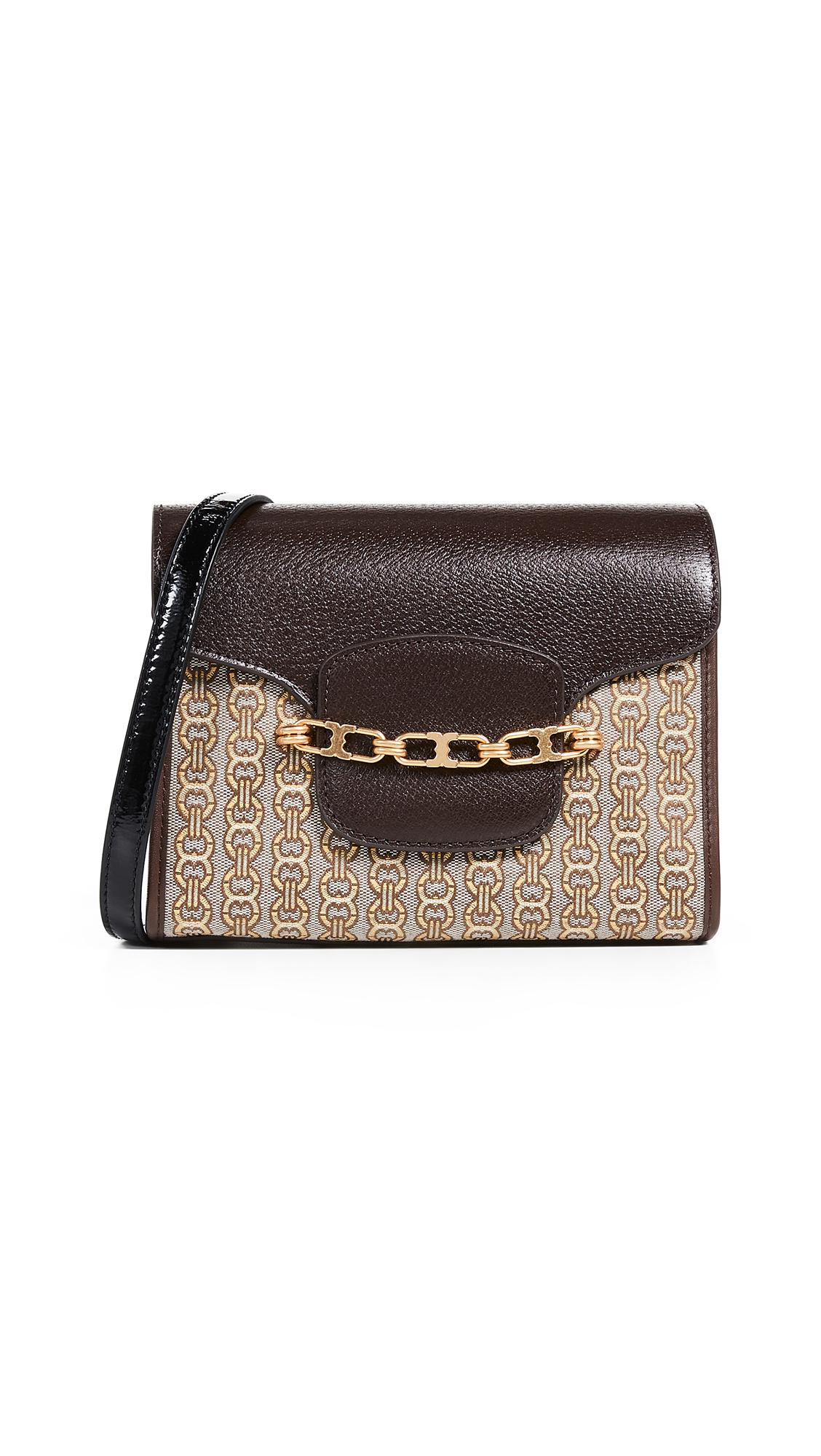 19ba359d6e1 Tory Burch Gemini Link Jacquard Small Crossbody Bag In Coffee New Ivory